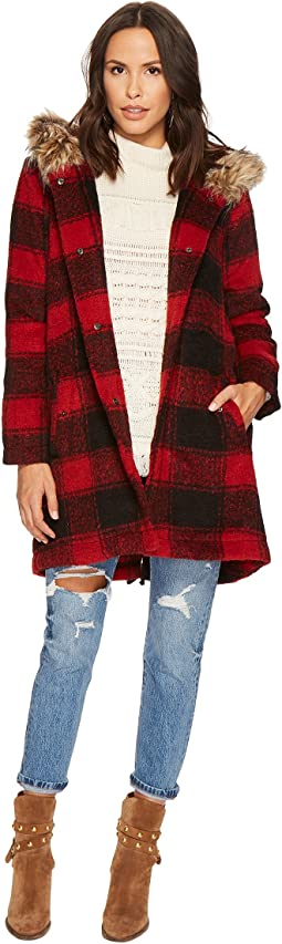 BB Dakota - Lia Buffalo Plaid Coat