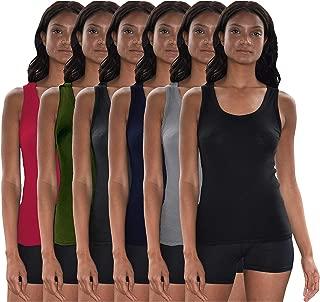 Sexy Basics Tank Tops for Women, 6 Pack & 12 Pack Cotton -Flex Tank Tops