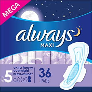 Always Overnight Pads With Wings