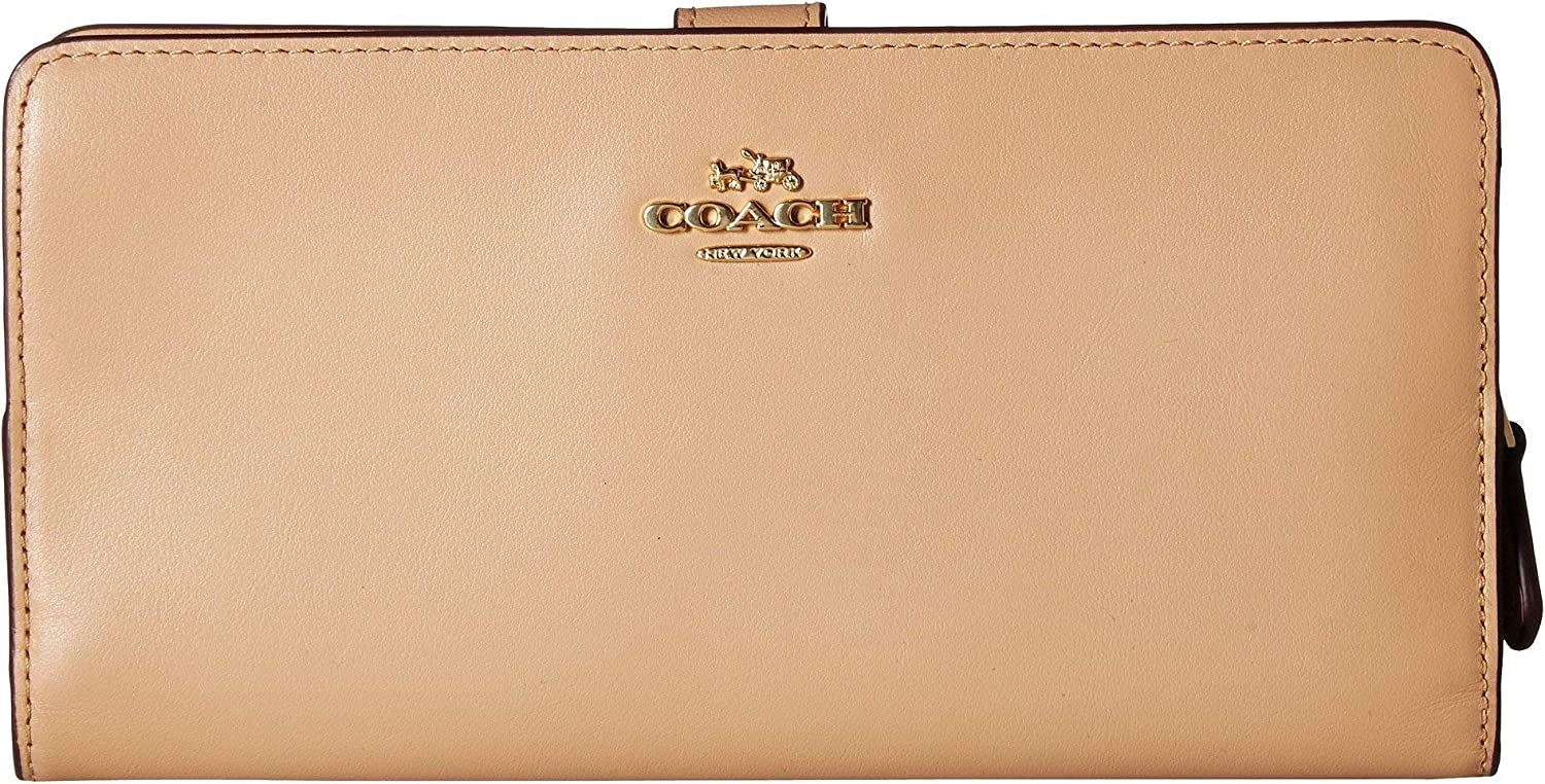 COACH Skinny Wallet in Smooth One Li Leather Size New product!! discount Beechwood