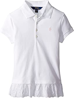 Polo Ralph Lauren Kids - Eyelet-Hem Mesh Polo Shirt (Little Kids/Big Kids)