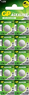 GP A76 LR44 AG13 Alkaline Cell 1.5V Alkaline Button Cell Battery,(10-pack)