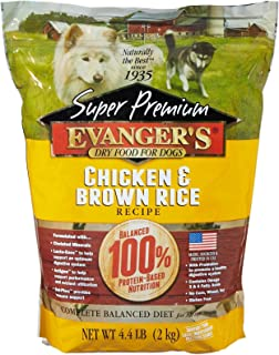 EvangerS Super Premium Dog Food Chicken With Brown Rice 4.4 Lbs