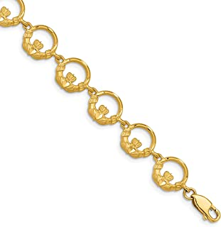Best 14k gold claddagh bracelet Reviews