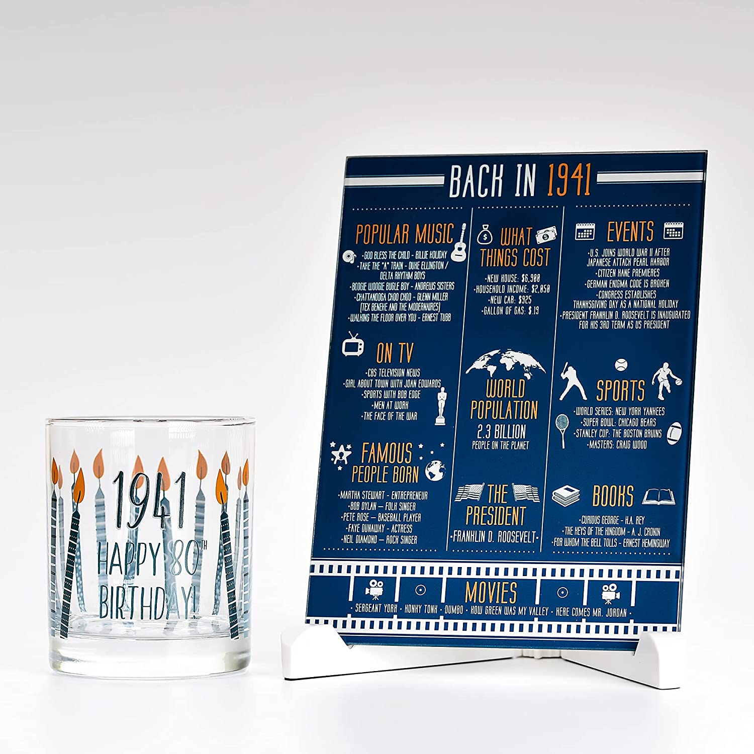Max 42% OFF Cheap Happy Birthday Whiskey Glass 10 oz Facts 1941 Year