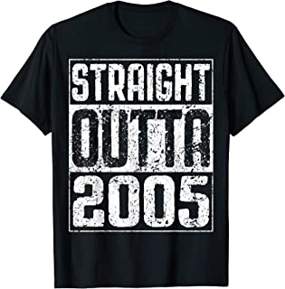 Straight Outta 2005 T-Shirt 14th Birthday Gift Shirt