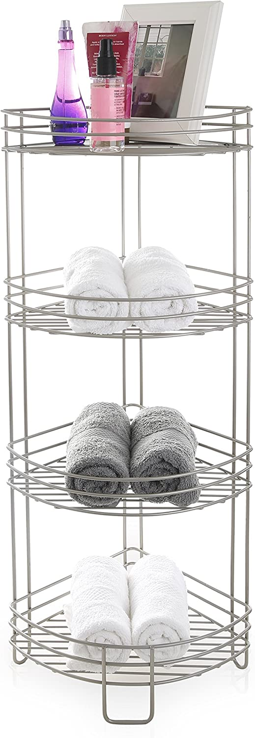 BINO sold out 'Monaco' Rust-Resistant High quality new 4-Tier Nickel Corner Spa Tower