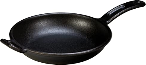 Lodge Pro-Logic Seasoned Cast Iron Skillet - 10 Inch Modern Design Cast Iron Frying Pan with Assist Handle (Made in USA)