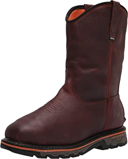 """Timberland PRO mens Helix HD 6"""" Composite Safety Toe Waterproof Met Guard Tempest Rancher Brown"""