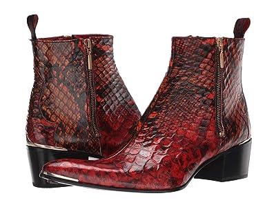 Jeffery-West Double Metal Zip Boot Sylvian (Red) Men