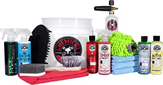 Chemical Guys HOL169 16-Piece Arsenal Builder Car Wash Kit with Foam Cannon, Bucket and (6) 16 oz Car Care Cleaning Chemicals (Works w/Pressure Washers)