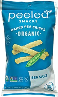 Peeled Snacks Organic Peas Please, Sea Salt, 3.3 Ounce (Pack of 12)