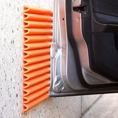 Stoßdämpfende Wandplatten Von Leggerodesign Selbstklebende Türkantenschutz Auto Wasserabweisend Garagen Wandschutz Jede Schachtel Enthält Vier Schaumstoffplatten 44 X 59 Cm Farbe Orange Auto