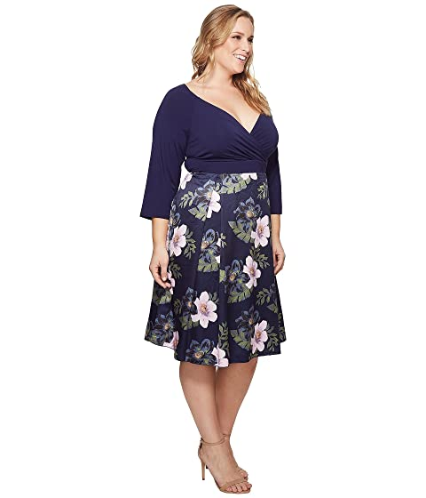 KARI LYN Plus Size Callie Dress Navy/Pink Cheap Sale Best Wholesale pd9VGQi