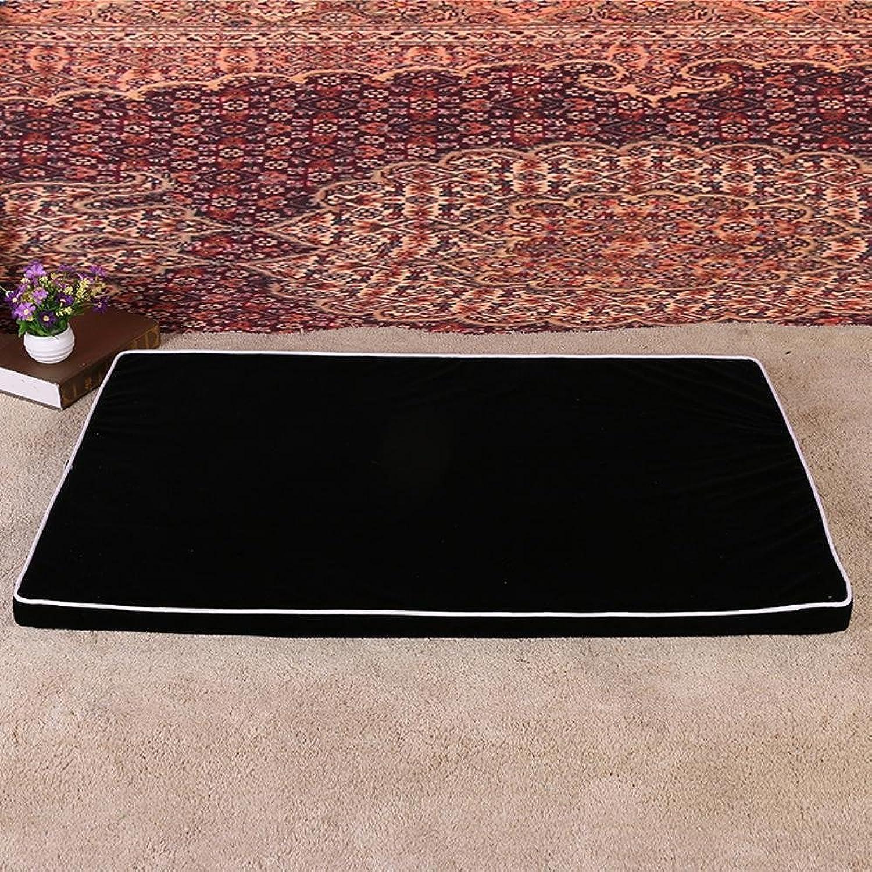 BiuTeFang Pet Bolster Dog Bed Comfort Home Pet nest flocking mat winter warm dog mat cat mat 65x40x6.5cm