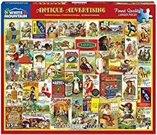White Mountain Puzzles Antique Advertising- 1000 Piece Jigsaw Puzzle