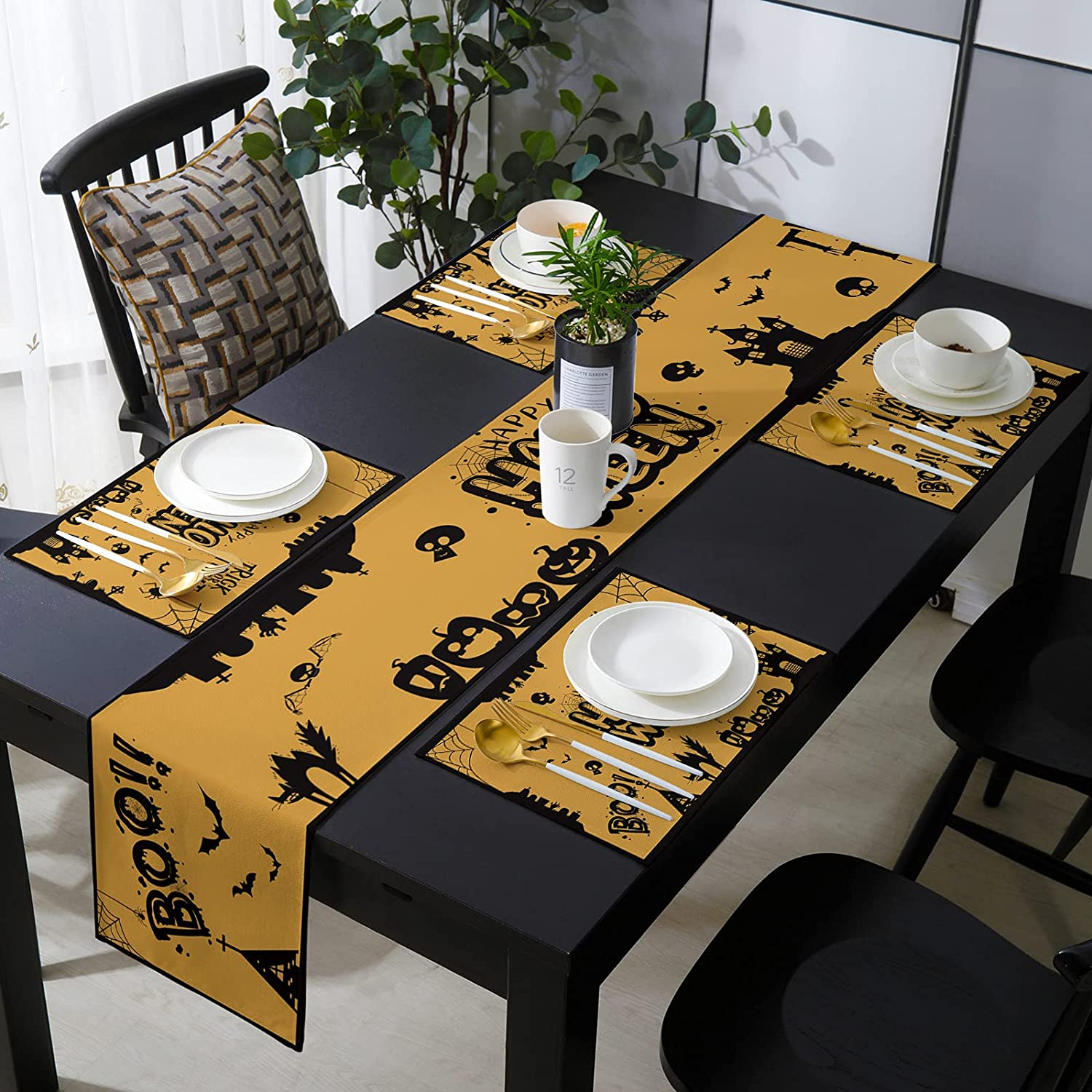 Savannan Burlap Placemat with Compatible Over item handling Happy Table Hal Runner San Francisco Mall