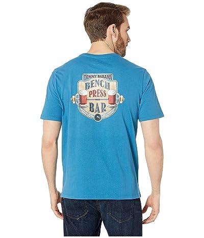 Tommy Bahama Bench Press Bar Tee (Blue Allure) Men