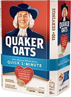 Quaker Oats 100% Whole Grain Quick 1-Minute Oatmeal Instant Oatmeal - 10 Pounds - Pack of 1