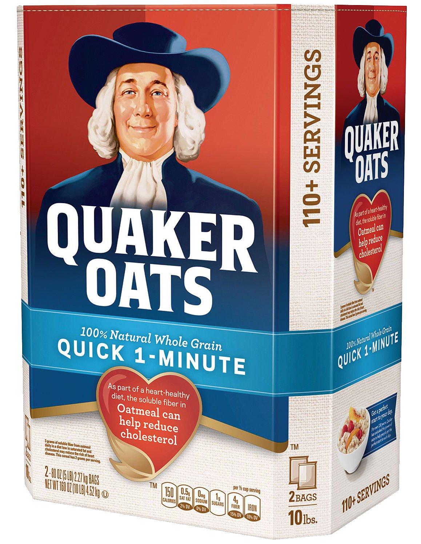 Quaker Phoenix Mall Oats 100% Whole Grain 1-Minute Oatmeal Instant Quick Oatm Choice