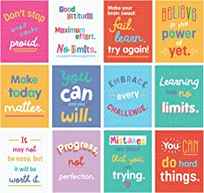 Carson Dellosa – Mini Posters: Growth Mindset Quotes, Classroom Décor, 12 Pieces