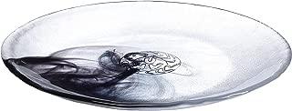 Kosta Boda Mine Plates, Handmade Marble Designed Glass, Set of 4, Black