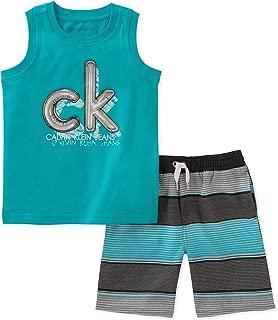 Calvin Klein Baby Boys 2 Pieces Muscle Top Short Set