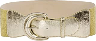 Women's Wide Stretchy Cinch Belt Vintage Chunky Buckle Belts S-XXXXL