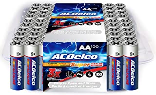 ACDelco AA Batteries, Alkaline Battery, Bulk Pack, 100 Count