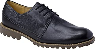 Sandro & Co. Alexis Oxford Dress Shoes | Men's Formal & Modern Wear | Classic Plain Toe (Navy, 11.5)