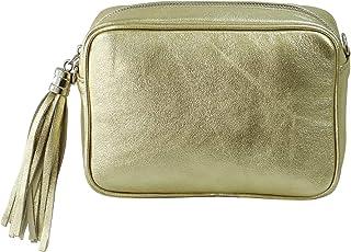 SH Leder Echtleder Umhängetasche mittel kleine Tasche Abendtasche Clutch Crossbody Bag Messenger Handtasche mit Reißversch...