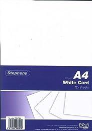 Stephens Pack de 25 feuilles de papier cartonné Bl