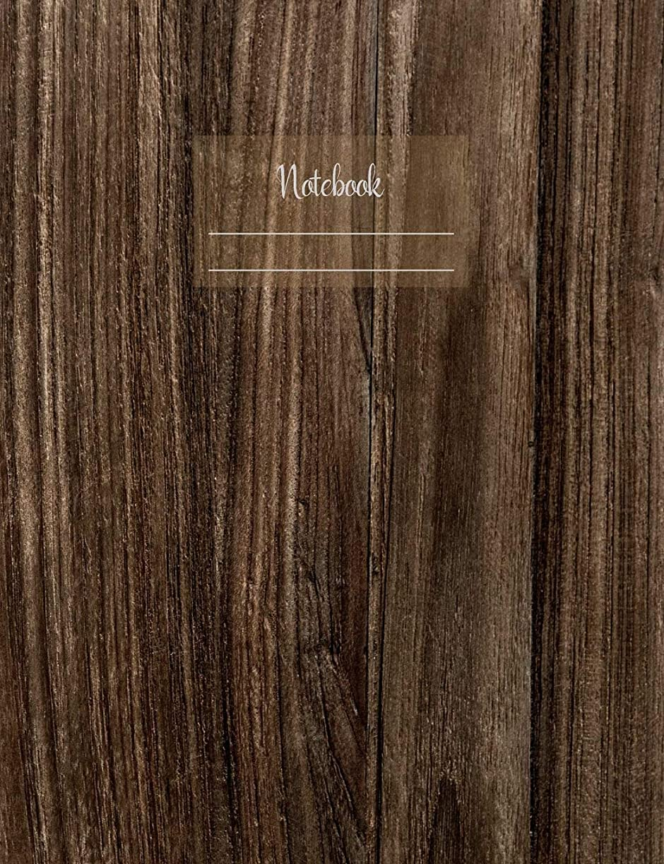 """電話をかける行為宿題をするNotebook: Composition Notebook. College ruled with soft matte cover. 120 Pages. Perfect for school notes, Ideal as a journal or a diary. 9.69"""" x 7.44"""". Great gift idea. (Wood design cover)."""