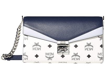 MCM Millie Flap Visetos Leather Block Crossbody Medium (Mood Indigo) Bags