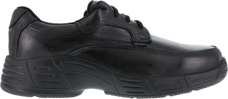 Florsheim Mens Black Leather Work Shoes Postal Classic Oxfords