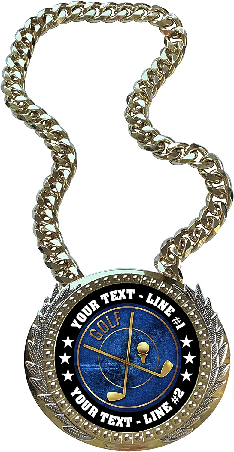 Express Washington Mall Medals Metal Version Golf Champ Chain 2 Line Trophy Limited price sale with