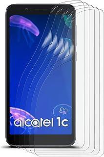 Matt skyddsfolie för Alcatel 1c (2019), 2 x Stück, transparent