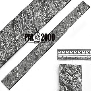 Patrón de giro de línea negra forjado a mano Palanquilla de acero damasco de 30 cm x 5 cm x 2 mm Bar Hecho a mano por encargo para hacer cuchillos Fabricación de joyas cubiertos y otros fines 9507