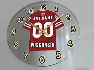 FanPlastic BIG10 Ten Conference College Football - Personalized Wall Clocks - Size 12