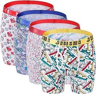 Mens Underwear Briefs Vintage Union Jack British Flag Retro Breathable Long Boxer Briefs Underwear Boys