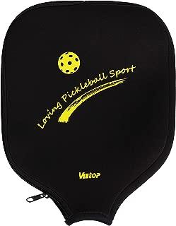 Veetop Neoprene Pickleball Paddle Racket Cover Case(Black)