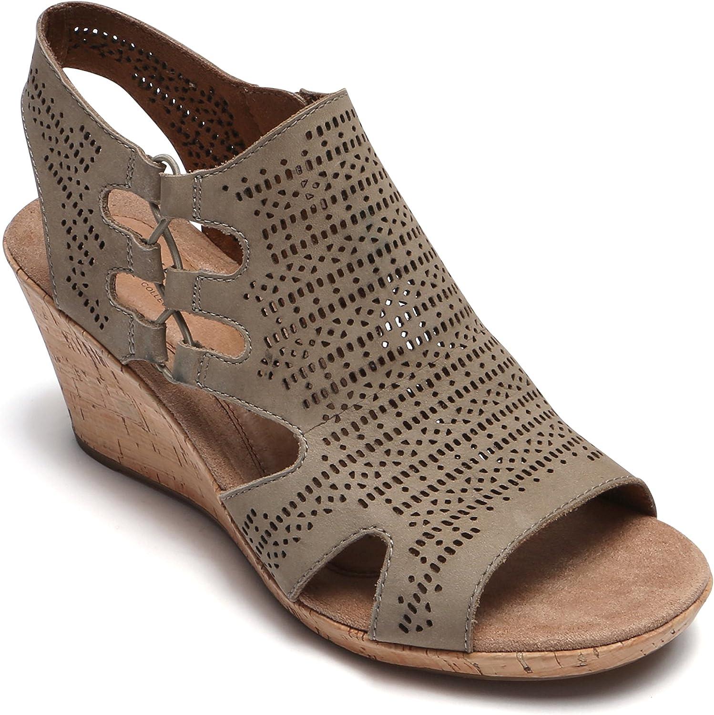 Rockport Women's Ch Janna Perf Bt shoes, 8.5 W, Khaki NBK