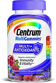 Centrum MultiGummies Multi+Antioxidants Immunity & Vitality Pomegranate-Blueberry & Raspberry-Cranberry Multivitamin/Multi...