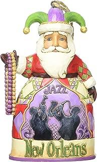 """Jim Shore Heartwood Creek New Orleans Santa Stone Resin Hanging Ornament, 4.5"""""""