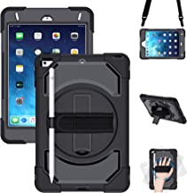 iPad Mini 5 Case 2019,iPad Mini 4 2015 Case, GEEKSDOM Shockproof,360 Degree Swivel Foldable Kickstand,Adjustable Shoulder Strip&[Pencil Holder] Hand Strap for iPad Mini 5th/4th Generation 7.9