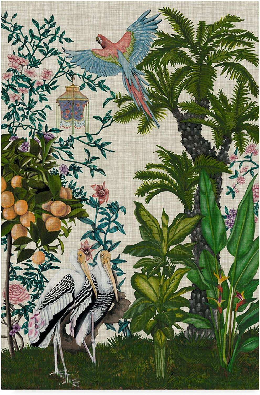 Trademark Ranking TOP5 Fees free Fine Art WAG04970-C2232GG Paradis II Chinoiserie by Na