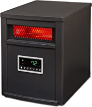 LIFE SMART LifeSmart 6 Element w/Remote Large Room Infrared Heater, Black/Gray