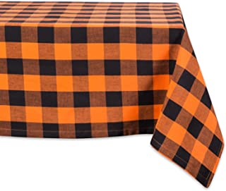 DII Cotton Buffalo Check Table Runner for Family Dinners or Gatherings, Indoor or Outdoor Parties, & Everyday Use, Orange,...