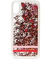 Kate Spade New York - Lips Liquid Glitter Phone Case for iPhone XS