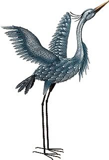 Regal Art & Gift 11778 Metallic Heron-Wings Up Bird Statuary, 47